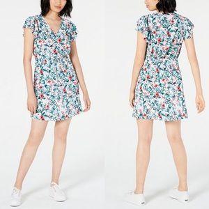 Maison Jules Oasis Flutter Sleeve Dress Floral